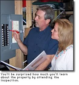 Attending the inspection helps you understand the report even more.